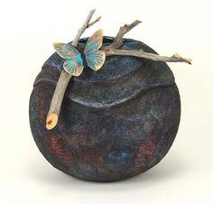 """*Gourd Art - """"Raku"""" by Bonnie Gibson"""