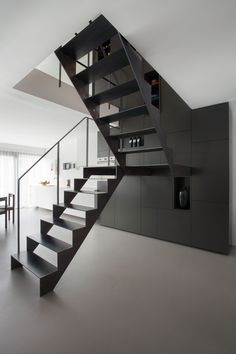 A staircase is an important part of a house. It helps the inhabitants of the house to access other parts of the house, especially the ones located in the upper areas. Staircase acts as a path connecting one floor to Interior Staircase, Stairs Architecture, Modern Staircase, Staircase Design, Interior Architecture, Interior Design, Steel Stairs Design, Basement Stairs, House Stairs