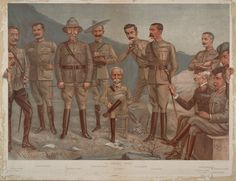 Caricature of the British Commanders, 2nd Boer War by Leslie Matthew Ward for Vanity Fair, date not known(shown in original source as 1st January 1899, which is far too early. For example Macdonald did not arrivein South Africa to take command of the Highland Brigade until 18th Jan. 1900).