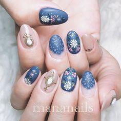 Ideas Fails Art Flores Secas For 2019 Cute Nails, Pretty Nails, Vintage Nails, Nail Art Techniques, Floral Nail Art, Autumn Nails, Nail Decorations, Bling Nails, Flower Nails