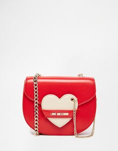 Image 1 of Love Moschino Saddle Bag with Heart Detail