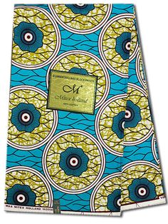 African Fabric  U-Pick Turquoise Blue or Green  Sold by Fabricatti
