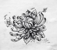 Flower, tattoo design, Frankie Gillespie... Kingston, Ontario --- copyright 2015