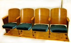 Vintage Theater Seats by CottonwoodInnovation on Etsy, $325.00