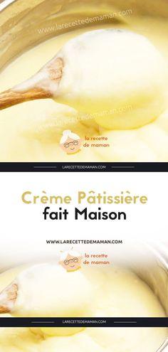 Crème Pâtissière fait Maison – La Recette de maman Muffins, David, Base, Cream, Drinks, Cooking Food, Traditional French Food, Muffin, Cup Cakes