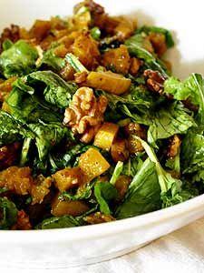 Warm Butternut Squash and Arugula Salad (gf, vegan)