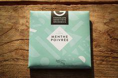 Carré menthe poivrée des Chocolats Geneviève Grandbois #Montreal