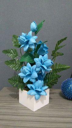 Flower Crafts, Diy Flowers, Crochet Flowers, Dried Flower Arrangements, Crepe Paper Flowers, Summer Wreath, Clay Crafts, Artificial Flowers, Creative