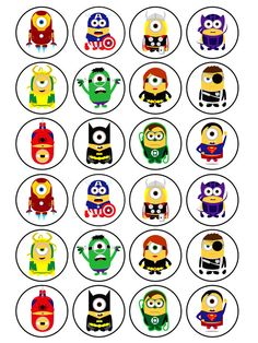 24 x Edible Minion Superhero Despicable Me Birthday Muffin Cake Cupcake Toppers in Crafts, Cake Decorating | eBay