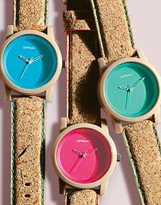 Colorful Cork Watches