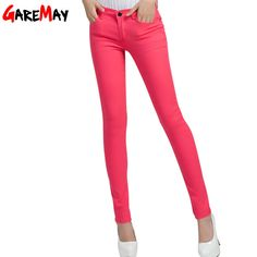 GAREMAY Women's Candy Pants Pencil Trousers 2017 Spring Fall Khaki Stretch Pants For Women Slim Ladies Jean Trousers Female 1010-in Pants & Capris from Women's Clothing & Accessories on Aliexpress.com | Alibaba Group