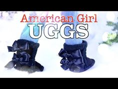 DIY - How to Make: American Girl UGGS Boots - Holiday Gift Ideas - Craft - 4K - YouTube