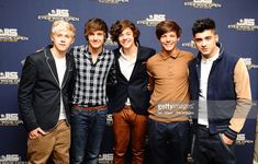 One Direction, (from left) Niall Horan, Liam Payne, Harry Styles, Louis Tomlinson and Zayn Malik arrive for the screening of the new JLS 3D movie Eyes Wide Open at the Soho Hotel in London.