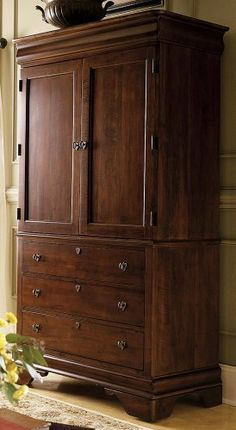 Kincaid Chateau Royale Solid Wood Armoire In Aged Maple 53 165 By Kincaid.  $1977.80