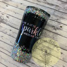 Glitter Tumbler Glitter Leave A Little Sparkle Wherever You Go Black Silver Custom Colors holographic Stainless Mom Cup Coffee Travel Gift Vinyl Tumblers, Personalized Tumblers, Custom Tumblers, Glitter Cups, Glitter Hearts, Glitter Face, Glitter Boots, Glitter Makeup, Black Glitter