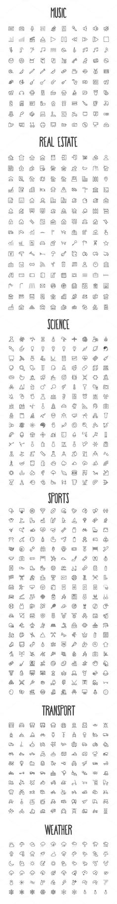 2440 Hand Drawn Doodle Icons Bundle by Creative Stall on Creative Market Tatto Drawings Doodle Drawings, Easy Drawings, Doodle Art, Music Doodle, Doodle Frames, Mini Tattoos, Small Tattoos, Small Simple Tattoos, Simple Hand Tattoos