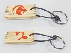 Keychain with zodiac sing and astrological symbol  Αries, birthday gift, keys organization, Valentine's Day, gift for him, gift for her, by BurnedMatchCreations on Etsy