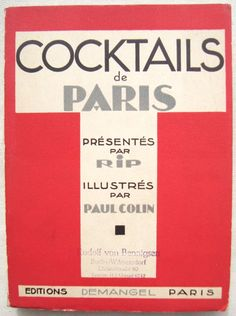 Cocktails De Paris Book