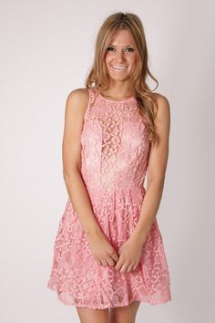 grace embroidered high neck cocktail dress- baby pink