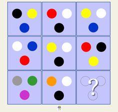 Razona y encuentra la lógica de estos coloridos círculos #gimnasiamental