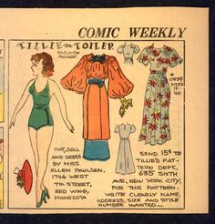 1930's Uncut Tillie The Toiler Newspaper Paper Doll 2250 | eBay