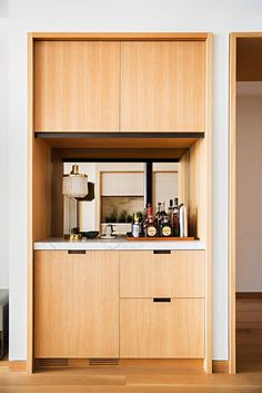 How to Make the Most of an Awkward Room Layout is part of - A top design firm shares strategies for maximizing an inconvenient space Soho Loft, Built In Bar, Small Room Design, Bars For Home, Kitchen Interior, Home Kitchens, House Design, Interior Design, Bar Interior