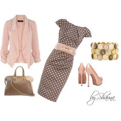 Pinka Dots by shauna-rogers on Polyvore featuring Dorothy Perkins, Yves Saint Laurent, Fendi, Liz Claiborne and MANGO