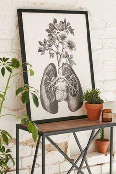 Fleuriosity Flourishing Lungs Art Print - Urban Outfitters