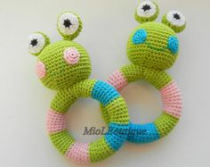 Crochet baby toy. Teething baby toy. Grasping and by MioLBoutique