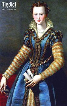 www.medici.so [Medici code] (Cosimo di Giovanni de 'Medici, moglie di)Eleonora di Garcia di Toledo, Alessandro Allori,1571