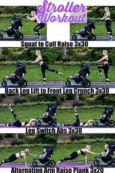 Stroller Workout with BOB Duallie and Onzie   great postpartum workout you can do with baby   Postpartum Workout Ideas   After Pregnancy Workouts   How to Workout with a Baby    Happily Hughes