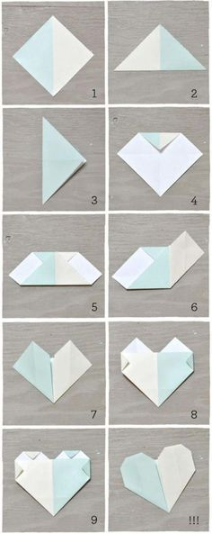 Best Origami Tutorials - Origami Heart Escort Cards - Easy DIY Origami Tutorial Projects for With Instructions for Flowers, Dog, Gift Box, Star, Owl, Buttlerfly, Heart and Bookmark, Animals - Fun Paper Crafts for Teens, Kids and Adults http://diyprojectsforteens.com/best-origami-tutorials