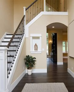 Trendy Home Decored Ideas Living Room Paint Colors Staircases Ideas Room Paint Colors, Paint Colors For Living Room, Wall Colors, House Colors, Neutral Living Room Colors, Foyer Colors, Beige Paint Colors, Neutral Colors, Light Colors