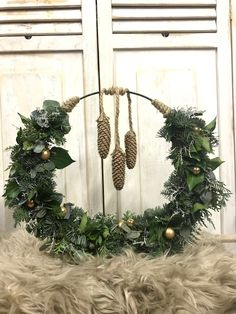 Nordic Christmas, Merry Little Christmas, Christmas Time, Christmas Wreaths, Christmas Decorations, Holiday Decor, Happy December, Christmas Arrangements, Flower Stands