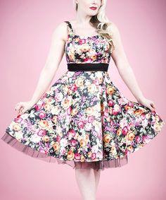Loving this Pink & Green Floral Sleeveless Dress - Women on #zulily! #zulilyfinds