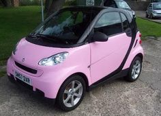 Get it in pink - Everything pink: I wouldn't mind a smart car if it was in this color!