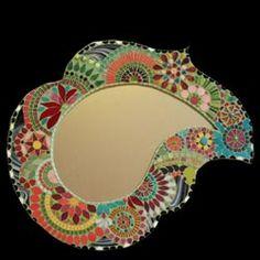 Miroir mosaïque                                                                                                                                                                                 Plus