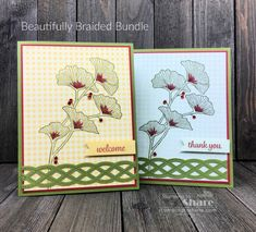 Beautifully Braided Bundle Creations by Kay Kalthoff with Stamping to Share Geek Jewelry, Gothic Jewelry, Metal Jewelry, Jewelry Necklaces, Ginkgo, Welcome Images, Hand Stamped Cards, Ink Stamps, Flower Cards