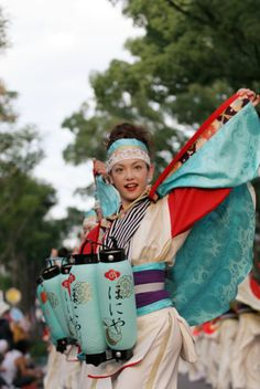 #yosakoi performer. YOSAKOI,  one of the traditional dance events of #Japan in Summer. Ooriginally started in Kochi.