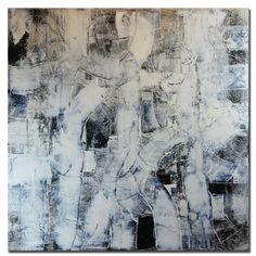 Black and white Abstract Painting Large Black&White by Andrada