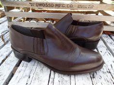 Vintage 90s Brown Leather Slip On Loafer by VTGRDX on Etsy, $25.00