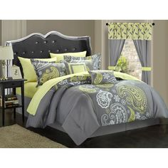 Have to have it. Chic Home Olivia 20 Piece Paisley Print Reversible Comforter Set - $119.97 @hayneedle