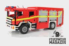 Coole: Bauanleitung für ein HLF aus Lego. Feuerwehrautos zum Selberbauen!