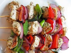 """A Hint of Honey created a skewer recipe that's fast, delicious and succulent. Marinated in garlic, olive oil and oregano, they'll be on your grill and in your stomach in no time.  """"Dip the sizzling skewers in tzatziki or hummus, stuff 'em in a pita, or spread 'em over a bed of spinach or Greek salad. This is a wonderfully uncomplicated and delicious dish,"""" writes Jessie on her blog. Check out the recipe right here."""