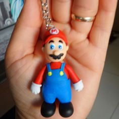 Chaveiro Super Mario Bros em biscuit