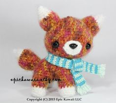 PATTERN: Bancha the Red Fox Pup  Teacup Pet by epickawaii on Etsy