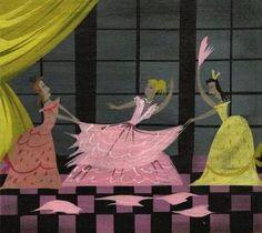 "Mary Blair concept art for Walt Disney's ""Cinderella"" (1950)"