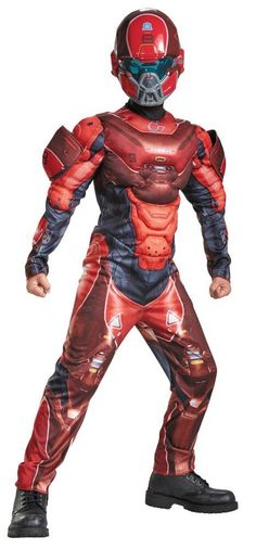 Costumes! Halo Nation Red Spartan Muscle Chest Costume Child Thru Teen Sizes #DG #MuscleCheastCostume