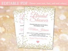 Bridal shower invitation INSTANT DOWNLOAD Bridal shower
