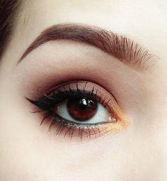 'Chocolate with Orange' look by Angelika Franke using Makeup Geek's Vegas Lights Palette.